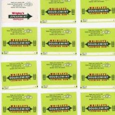 Etiquetas antiguas: LOTE DE ENVOLTORIOS DE CHICLE WRIGLEY´S DOUBLEMINT CHEWING GUM. AÑOS 80. Lote 197699675