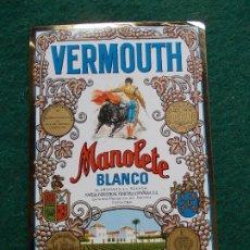 Etiquetas antiguas: ETIQUETA VERMOUTH MANOLETE BLANCO CORDOBA. Lote 197760237