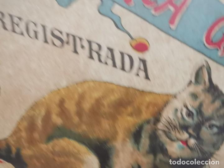 Etiquetas antiguas: ETIQUETA BARRICA VINO TINTO SUPERIOR MARCA GATO ROMULO BOSCH Y ALSINA-VILAFRANCA DEL PANADES- 31 CM - Foto 7 - 197846771