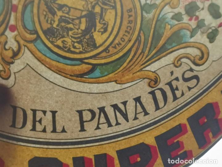 Etiquetas antiguas: ETIQUETA BARRICA VINO TINTO SUPERIOR MARCA GATO ROMULO BOSCH Y ALSINA-VILAFRANCA DEL PANADES- 31 CM - Foto 8 - 197846771