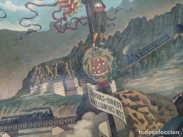 Etiquetas antiguas: ETIQUETA BARRICA VINO PURO DE MESA ROMULO BOSCH Y ALSINA-MONTSERRAT BARCELONA- 32 CM - Foto 4 - 197847266