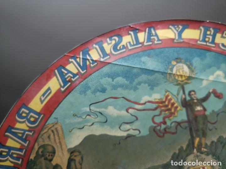 Etiquetas antiguas: ETIQUETA BARRICA VINO PURO DE MESA ROMULO BOSCH Y ALSINA-MONTSERRAT BARCELONA- 32 CM - Foto 6 - 197847266