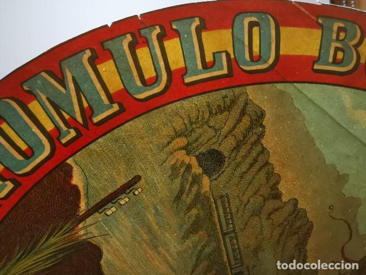 Etiquetas antiguas: ETIQUETA BARRICA VINO PURO DE MESA ROMULO BOSCH Y ALSINA-MONTSERRAT BARCELONA- 32 CM - Foto 10 - 197847266