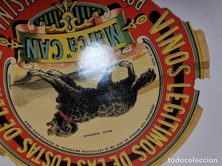 Etiquetas antiguas: ETIQUETA BARRICA VINOS LEGITIMOS COSTA DE LEVANTE-MARCA CAN-ROMULO BOSCH ALSINA- 34 CM - Foto 7 - 197847905