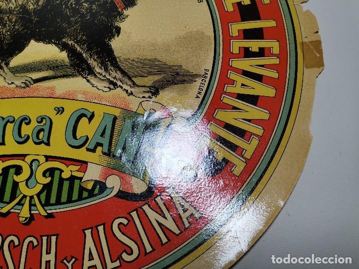 Etiquetas antiguas: ETIQUETA BARRICA VINOS LEGITIMOS COSTA DE LEVANTE-MARCA CAN-ROMULO BOSCH ALSINA- 34 CM - Foto 10 - 197847905