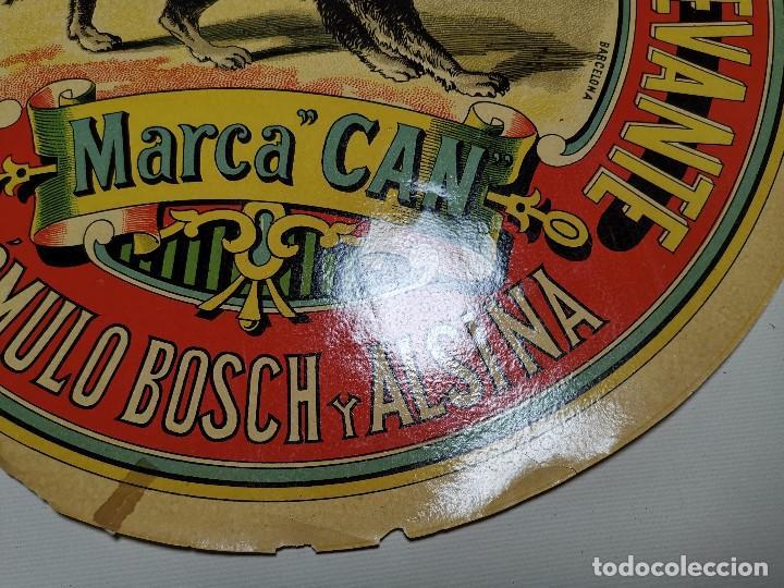 Etiquetas antiguas: ETIQUETA BARRICA VINOS LEGITIMOS COSTA DE LEVANTE-MARCA CAN-ROMULO BOSCH ALSINA- 34 CM - Foto 11 - 197847905