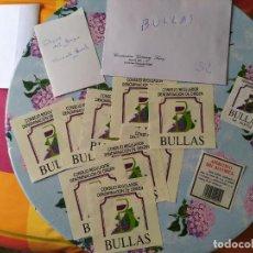 Etiquetas antiguas: LOTE ETIQUETAS BULLAS. Lote 198356178