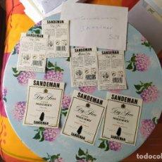 Etiquetas antiguas: ETIQUETAS SANDEMAN. Lote 198357035