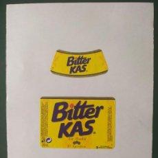 Etiquetas antiguas: ETIQUETAS BITTER KAS. Lote 198399127