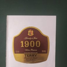 Etiquetas antiguas: BRANDY 1900 TERRY. Lote 198400987
