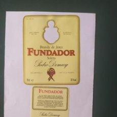 Etiquetas antiguas: ETIQUETA FUNDADOR . Lote 198401170