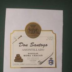 Etiquetas antiguas: DON SANTOGO AMONTILLADO. Lote 198401355