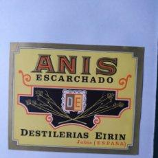 Etiquetas antiguas: ETIQUETA DE ANÍS ESCARCHADO. Lote 198478267