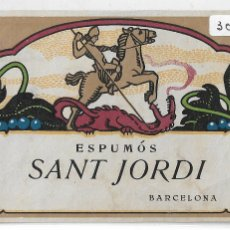 Etiquetas antiguas: CAVA - ESPUMÓS SANT JORDI - SAN JORGE - 12,2 X 8,1 CM. - P30620. Lote 198841292