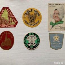 Etiquetas antiguas: FANTASTICA COLECCION DE ETIQUETAS HISTORICAS DE HOTELES. Lote 198897486