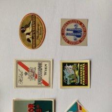 Etiquetas antiguas: FANTASTICA COLECCION DE ETIQUETAS HISTORICAS DE HOTELES. Lote 198898292