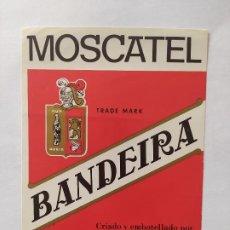 Etiquetas antiguas: UNICA ETIQUETA MOSCATEL BANDEIRA. Lote 199373353