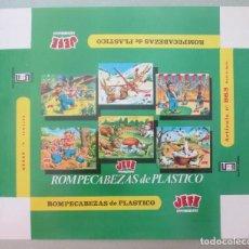 Etiquetas antiguas: ETIQUETA CAJA DE JUEGOS ROMPECABEZAS DE PLASTICO JEFE Nº863, CA1. Lote 199446957