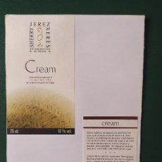 Etiquetas antiguas: ETIQUETAS CREAM JEREZ. Lote 199621385