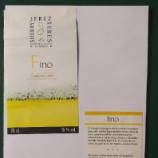 Etiquetas antiguas: ETIQUETAS FINO JEREZ. Lote 199621453