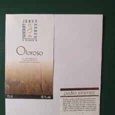 Etiquetas antiguas: ETIUETAS OLOROSO JEREZ. Lote 199621566