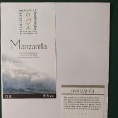 Etiquetas antiguas: ETIQUETAS MANZANILLA JEREZ. Lote 199621677