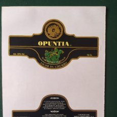 Etiquetas antiguas: ETIQUETAS LICOR OPUNTIA. Lote 199622627