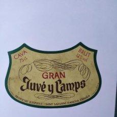 Etiquetas antiguas: ETIQUETA CAVA GRAN JUVE Y CAMPS. Lote 199622848
