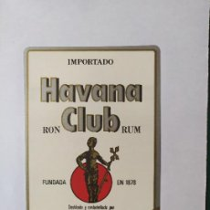 Etiquetas antiguas: ETIQUETA RON HABANA CLUB. Lote 199622942