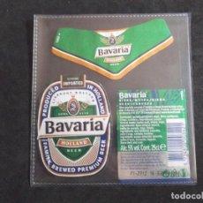 Etiquetas antiguas: CERVEZA-V9ET-6-ETIQUETAS-BAVARIA. Lote 200081913