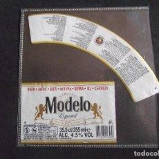 Etiquetas antiguas: CERVEZA-V9ET-6-ETIQUETAS-MODELO. Lote 200081982