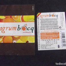 Etiquetas antiguas: CERVEZA-V9ET-7-ETIQUETAS-BOCQ. Lote 200287221