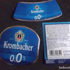 Etiquetas antiguas: CERVEZA-V9ET-7-ETIQUETAS-KROMBACHER. Lote 200288033