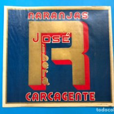Etiquetas antiguas: 15 ANTIGUAS ETIQUETAS DE NARANJAS - JOSE RIBERA, CARCAGENTE, VALENCIA. Lote 215368073