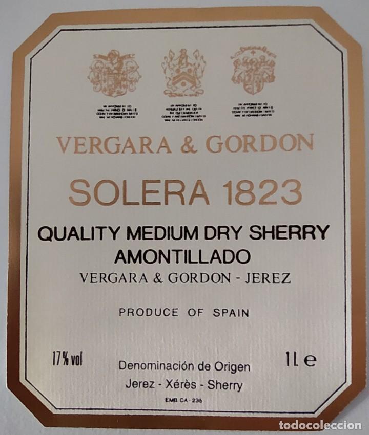 Etiquetas antiguas: CINCO ETIQUETAS DE VINO BODEGAS VERGARA & GORDON SOLERA 1823 - Foto 3 - 202029815