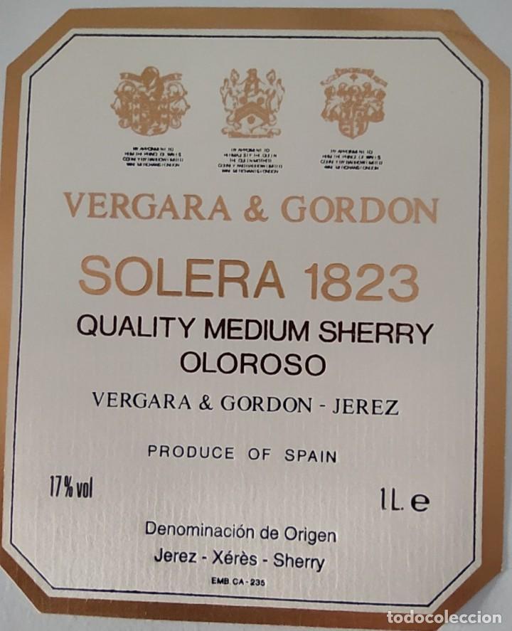 Etiquetas antiguas: CINCO ETIQUETAS DE VINO BODEGAS VERGARA & GORDON SOLERA 1823 - Foto 4 - 202029815