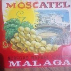 Etiquetas antiguas: ETIQUETA BOCETO MOSCATEL MALAGA. Lote 203093332