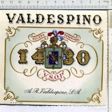 Etiquetas antiguas: ETIQUETA VINO RESERVA SOLERA RESERVADA 1430 VALDESPINO. Lote 203441505