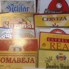 Etiquetas antiguas: LOTE 130 ETIQUETAS CERVEZA DIFERENTES NO CONOCIDAS. Lote 204201430
