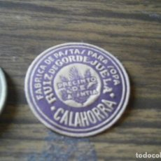 Étiquettes anciennes: PRECIOSA ETIQUETA¡¡DE UNA VIEJA IMPRENTA,AÑOS 30,40,PASTAS PARA SOPA,CALAHORRA. Lote 205386706