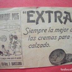 Etiquetas antiguas: ENRIQUE PUIG.-CALZADO.-CREMAS.-PUBLICIDAD.-BARCELONA.. Lote 205591193