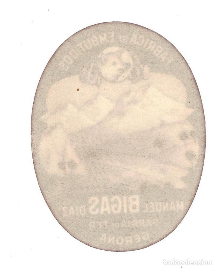 Etiquetas antiguas: ETIQUETA- FÁBRICA DE EMBUTIDOS MANUEL BIGAS DIAZ. SARRIA DE TER- GERONA - Foto 2 - 205682695
