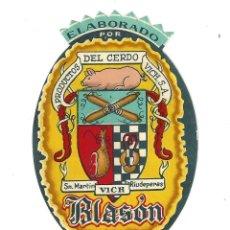 Etiquetas antiguas: ETIQUETA- BLASÓN- LOMO EMBUCHADO. PRODUCTOS DEL CERDO VICH, SA. SAN MARTIN RIUDEPERAS. Lote 205683237