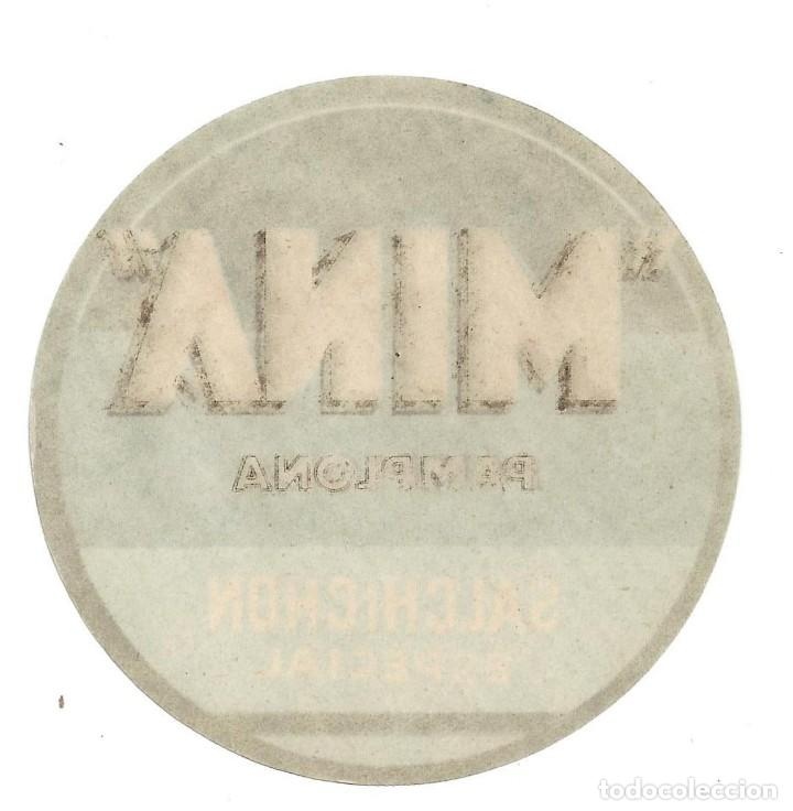 Etiquetas antiguas: ETIQUETA- MINA. SALCHICHÓN ESPECIAL- PAMPLONA - Foto 2 - 205683361
