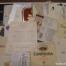 Étiquettes anciennes: 52 ETIQUETAS DE VINOS CATALANES DIFERENTES. Lote 205690055