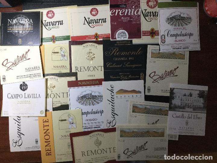 MAVARRA , LOTE DE 22 ETIQUETAS DE VINO AÑOS 90 , NUEVAS (Coleccionismo - Etiquetas)
