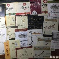Etiquetas antiguas: MAVARRA , LOTE DE 22 ETIQUETAS DE VINO AÑOS 90 , NUEVAS. Lote 205710118