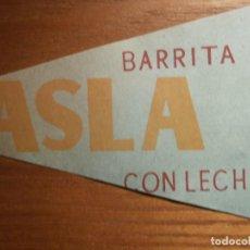 Etiquetas antiguas: ETIQUETA, ENVOLTORIO BARRITA CHOCOLATE ASLA - BIB-RAMBLA - IMP. MUÑOZ - GRANADA - 14,5 X 27 CM VERDE. Lote 205862188
