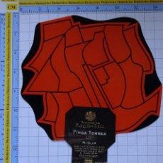 Etiquetas antiguas: ETIQUETA DE BEBIDAS. VINOS LICORES. FINCA TORREA 2007 RIOJA MARQUÉS DE RISCAL. 128. Lote 205867092