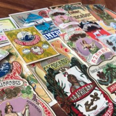 Etiquetas antiguas: LOTE DE 19 ANTIGUAS ETIQUETAS DE LICORES DE JÁTIVA, GRAO, MONTEOLIVETE,. Lote 205897391